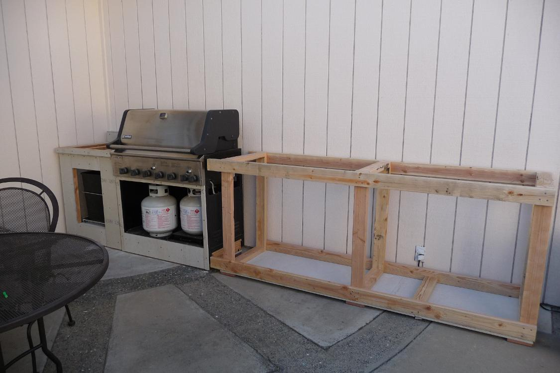 Diy Breakfast Bar Frame Built To An Existing Kitchen Island: Bbq